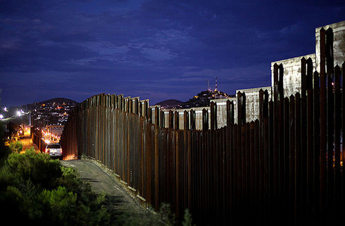 The border wall on July 6, 2012, in Nogales, Arizona. President Donald Trump wants to expand this wall, which currently separates Guadalupe García de Rayos from her husband and two children after she was deported yesterday (February 8).