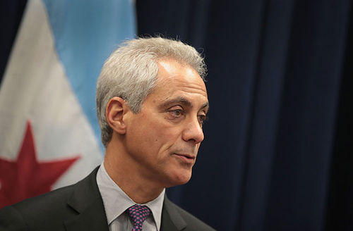 Chicago Mayor Rahm Emanuel speaks at a press conference where he addressed issues related to the city's murder rate and the city's Sanctuary City policy on January 25, 2017, in Chicago.