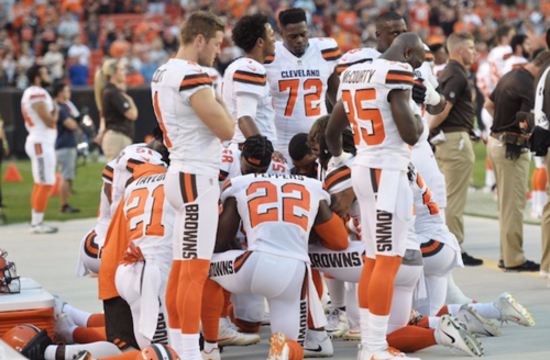 Twelve Cleveland Browns Players Take Knee For Anthem, Including First White Player