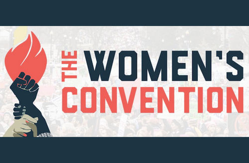 """Graphic says, """"The Women's Convention"""""""