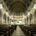 An ornate sanctuary at Riverside Church in New York City