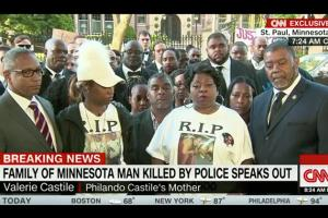 Colorlines Screenshot of CNN video interview with Philando Castile's family, taken on July 8, 2016