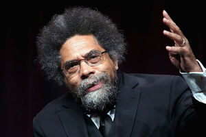 Cornel West. Black man with salt and pepper Afro