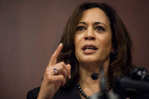 Kamala Harris talking