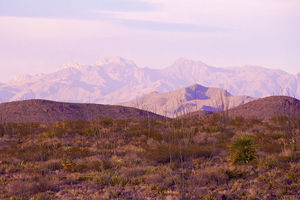 The Franklin Mountains, which sit in El Paso, Texas, where the two pipelines will run through.