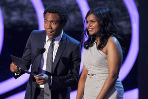Donald Glover and Mindy Kaling speak onstage