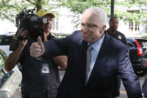 John McCain. White man gives a thumbs up to the cameras.