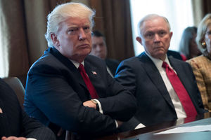 U.S. President Donald Trump and Attorney General Jeff Sessions