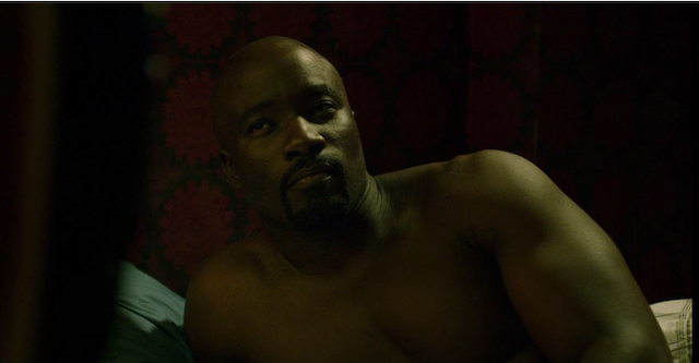 Shirtless Mike Colter