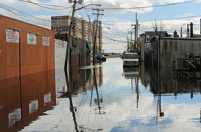 Flood damaged streets are viewed in the Rockaway section of Queens, New York City, where Redfern sits, on October 31, 2012.