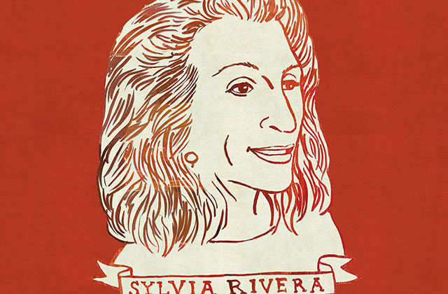 Sylvia Rivera. Illustration of bust for monument.
