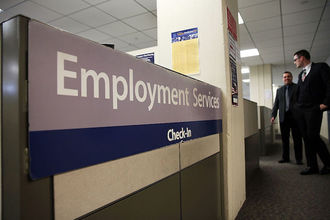 "Sign reads ""Employment Services"""