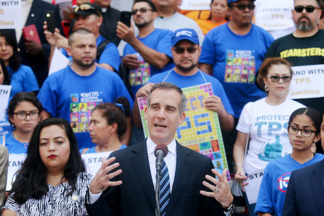 Activists Demonstrate Against Trump's TPS Policies