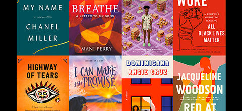 Colorful covers of eight books.