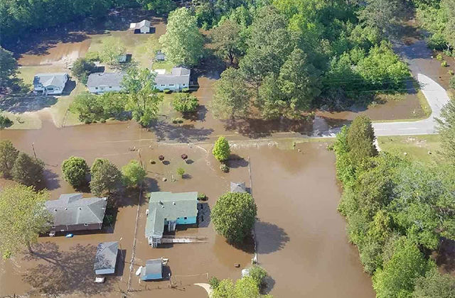 Flooding in Edgecombe County, which declared a state of emergency April 25 and whose population is more than half Black.