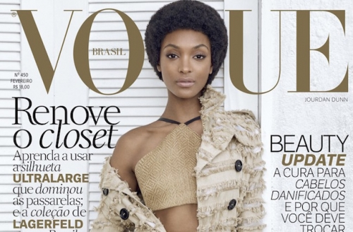 8892921a55a01 Jourdan Dunn Rocks An Afro on Two Vogue Brasil Covers
