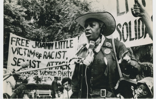 Florynce Flo Kennedy Speaks At A Protest To Exonerate Black Victim Of Attempted Rape Joann Little On July 12 1975 In 1972 20 Fled Her Jail