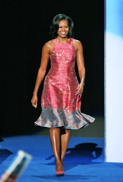 Michelle S Dnc Dress Designed By African American Designer Tracy Reese