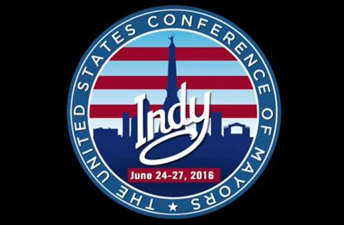 Colorlines Screenshot of the U.S. Conference of Mayors logo, taken on June 29, 2016.