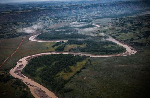 Pictured above is the Missouri River, which is the primary source of drinking water for the Standing Rock Nation.