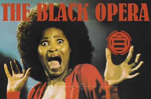 """Cover art for """"Black Frankenstein,"""" features frightened Black woman with Afro and unbuttoned red sweater"""