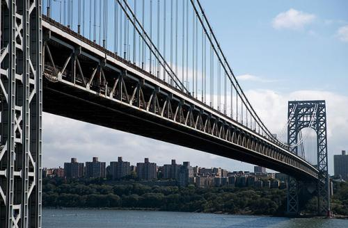 Ten protestors blocked the George Washington Bridge around 8 a.m. EST today, which can have almost 9,000 cars heading to Manhattan between 8 and 9 a.m.