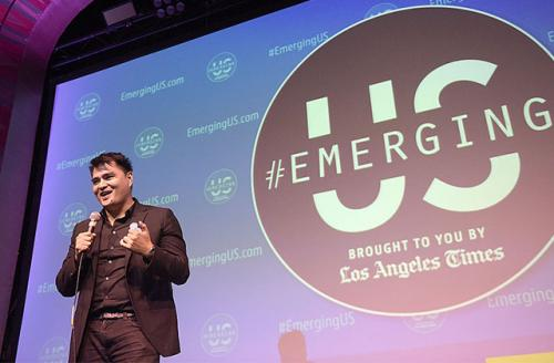 """Jose Antonio Vargas attends a screening of """"White People"""" at the Regent Theater on July 20, 2015, in Los Angeles, California."""