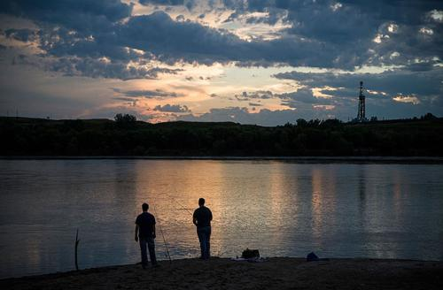 The Missouri River on July 24, 2013, in Williston, North Dakota. Opponents of the Dakota Access Pipeline worry that pipeline can spill into the river. Their worries have only increased with a separate pipeline spill just 150 miles away from Standing Rock.