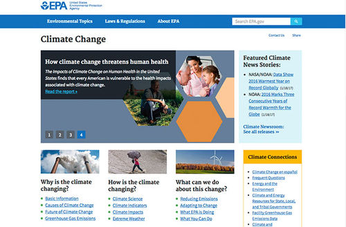 Colorlines screenshot of EPA page, taken on January 25, 2017.