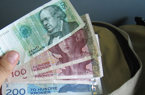 The currency of Norway, the krone.