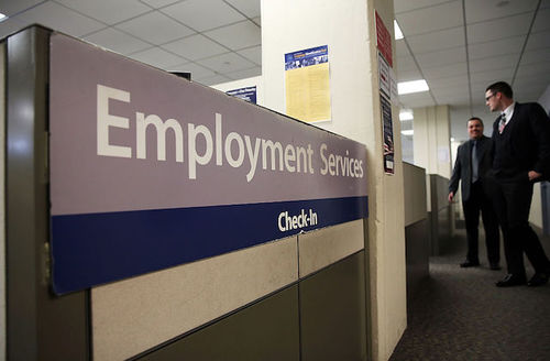 """Sign reads """"Employment Services"""""""