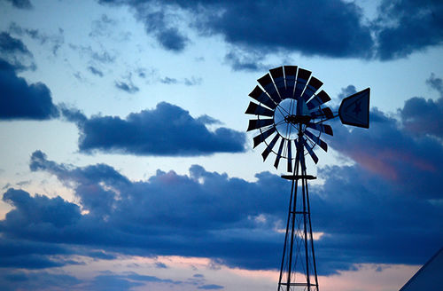 A windmill is seen during 2016 Stagecoach California's Country Music Festival at Empire Polo Club on April 30, 2016, in Indio, California.