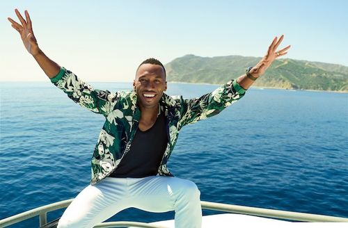Mahershala Ali. Black man on a boat.