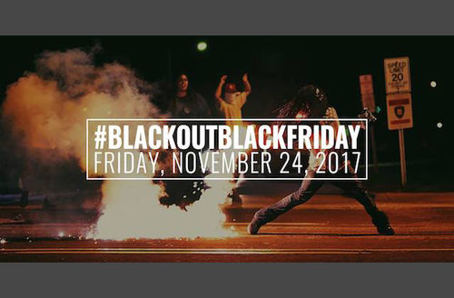 White text over image of Black people in multicolored clothing near open flame on grey street in front of black sky
