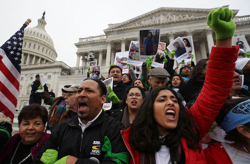Dreamers protest at U.S. Capitol