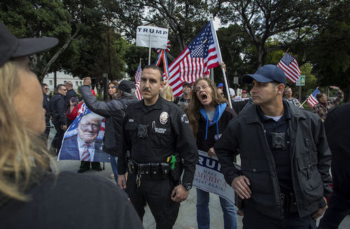 Los Angeles protests Trump immigration policy