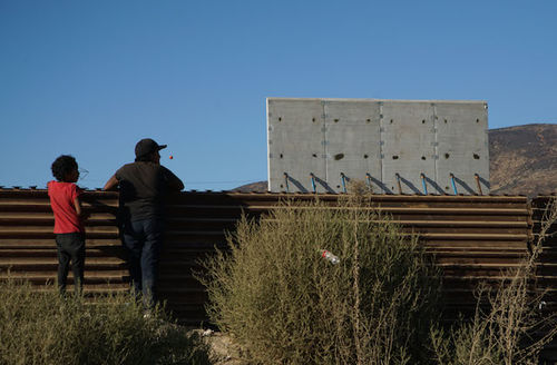 Prototypes Of President Trump's Proposed Border Wall