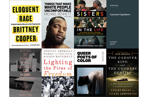 Assorted book titles in a grid