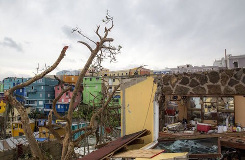 The La Perla neighborhood the day after Hurricane Maria made landfall on September 21, 2017, in San Juan, Puerto Rico.