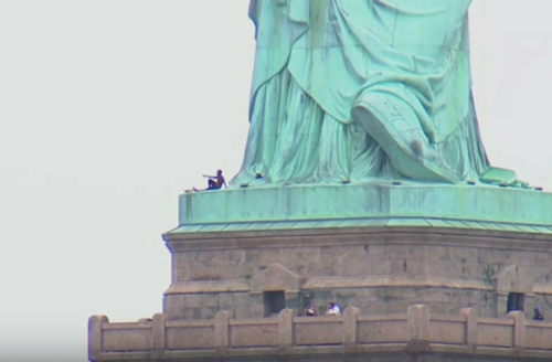 Woman arrested at Statue of Liberty for protesting ICE
