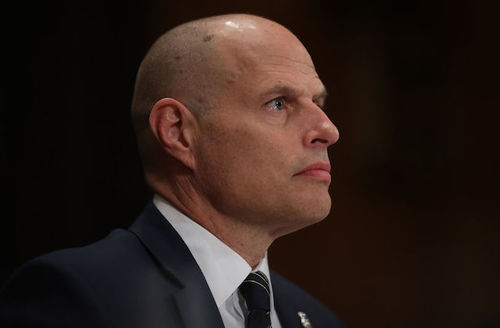 Ronald D. Vitiello, nominee to be assistant Homeland Security secretary for Immigration and Customs Enforcement, testifies at a hearing held by the Senate Homeland Security and Governmental Affairs Committee in Washington, DC on November 15, 2018.
