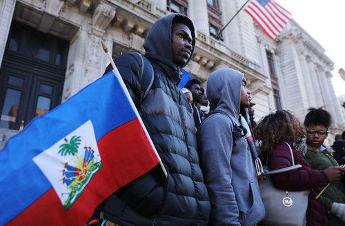 Students, activists and area politicians attend a unity rally on the steps of City Hall in downtown Newark in support of immigrants in Newark, New Jersey on January 18, 2018.
