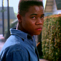 Cuba Gooding Jr. in blue denim shirt