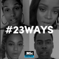 Black and white images of Alicia Keys, Rihanna, Chris Rock and Beyoncé in quadrants