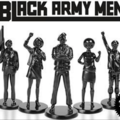Black silicon figurines with black text against white background