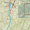 """Mountain Valley Pipeline route taken from developer <a href=""""https://www.mountainvalleypipeline.info/"""" target=""""_blank"""">website</a> on November 16, 2016."""