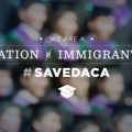 "Graphic: ""We are a nation of immigrants. #SaveDACA."""