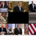 Eight panes show individual photos of the nominees with Donald Trump