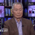 George Takei on television set