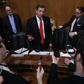 Chairman Sen. John Barrasso of the Senate Environment and Public Works Committee speaks to members of the media after a meeting to vote on the nomination of Scott Pruitt to be the next Environmental Protection Agency administrator February 1, 2017.